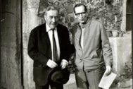 Josep Pla y Miguel Delibes en Palafrugell (Girona), en 1969.