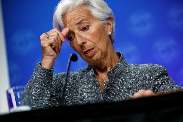 La todavía  directora gerente del FMI, Christine Lagarde.