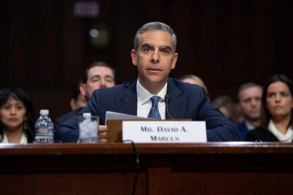 David Marcus, responsable de Calibra, en el Senado de EEUU.