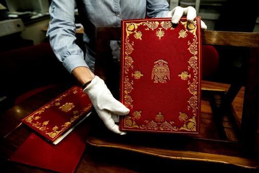 Ejemplar original de la Constitución de 1978.