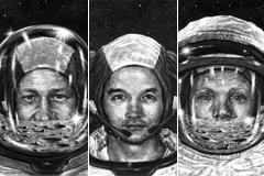 Los tres héroes de la gesta del Apolo 11