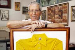 Bahamontes, con el maillot amarillo del Tour de 1959.