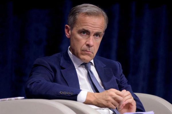 Mark Carney, gobernador del Banco de Inglaterra, durante una conferencia.