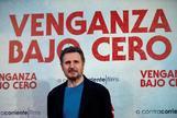 Liam Neeson en la presentación, ayer, de 'Venganza bajo cero' en Madrid.