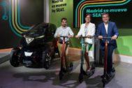 Seat prueba primero en Madrid sus servicios de micromovilidad