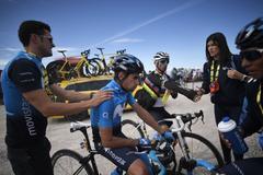 Mikel Landa, en una etapa del Tour.