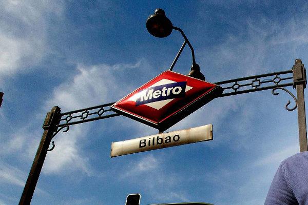 La estación de Metro de Bilbao.