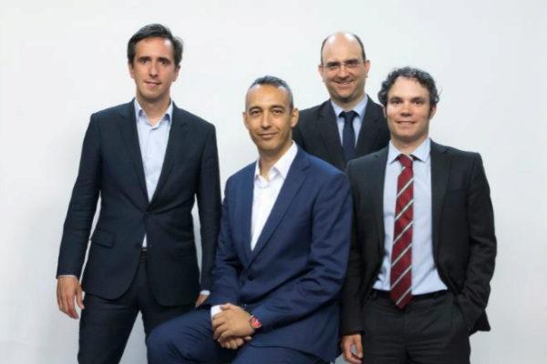 De izquierda a derecha, Rafael Fernández, director de Innovación en Ferrovial; José Antonio Aranda, director de Innovación y Estrategia de Producto de Cellnex; Héctor Atienza, responsable de Innovación de PIXEL (Unidad Editorial); y Jon Blázquez, director general de IT y Transformación Digital en Elecnor.