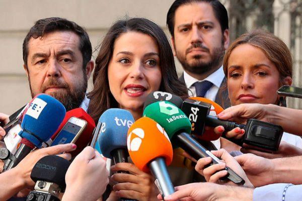 Inés Arrimadas tras los altercados sufridos durante la manifestación del Orgullo 2019.