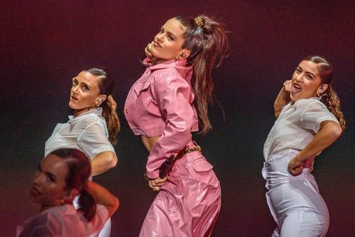 Rosalía en un concierto en Bilbao la semana pasada.