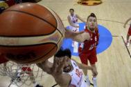 Kuzmic, ante España, en el Eurobasket de 2015.