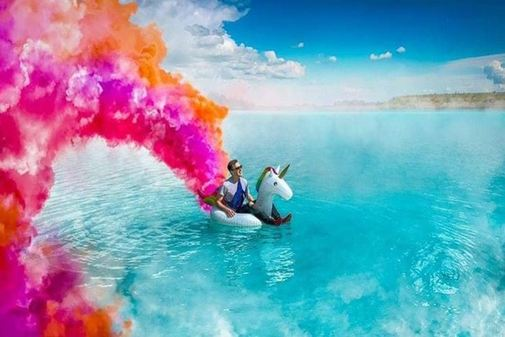 Una imagen de Instagram de la cuenta del lago Maldives Novosibirsk.