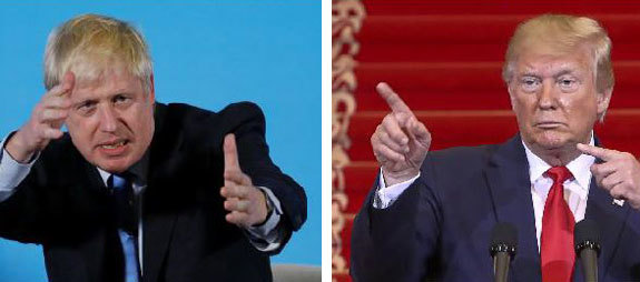 Boris Johnson y Donald Trump.