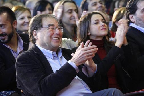 Francesc de Carreras, con Inés Arrimadas en un acto de Ciudadanos...