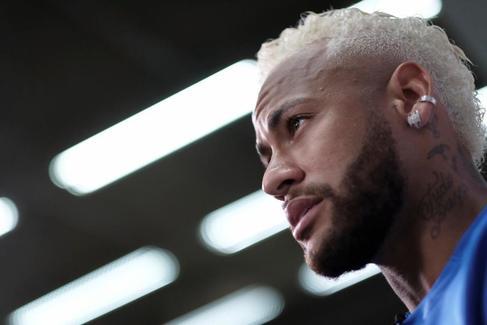 Neymar, durante una entrevista con Reuters en Brasil.