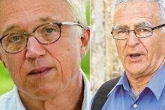 Íñigo Errejón, tras pasar por FaceApp, y Joan Ribó