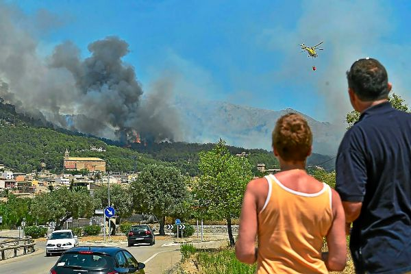 Imagen del incendio de 2013 en Andratx, el mayor de la historia en Baleares.