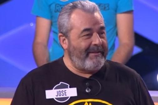 José Pinto, concursante de Los Lobos, en uno de los programas de ¡Boom!