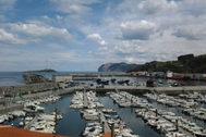El puerto deportivo de Bermeo (Vizcaya) donde se ha producido el atropello.