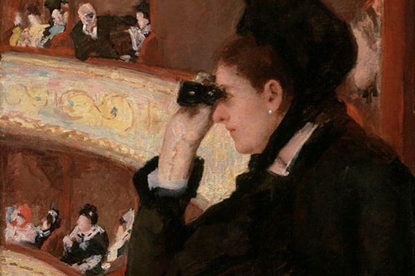 'En el palco', de Mary Cassatt, data de 1878 y muestra a una mujer que mira y es, a la vez, observada.