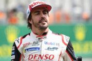 Fernando Alonso, durante las 24 Horas de Le Mans.