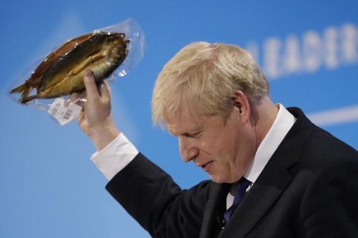 El aspirante a dirigir a los conservadores, Boris Johnson, en un reciente discurso.