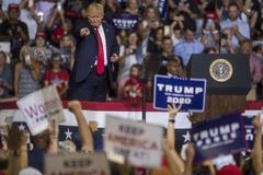 Donald Trump da un mitin en Greenville.