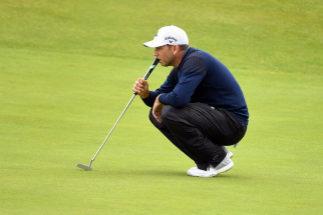 Sergio García, durante la primera jornada del British Open.