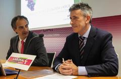 Ibon Urgoiti y  Joseba Madariaga en la presentación del Informe 2018.