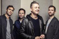 De izquierda a derecha:Tim Rice-Oxley, Jesse Quin, Tom Chaplin y Richard Hughes, los miembros de la banda Keane.