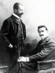 Los hermanos Mann en enero de 1905.