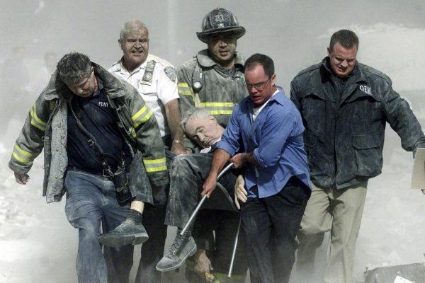 Bomberos de Nueva York, el 11 de septiembre de 2001.
