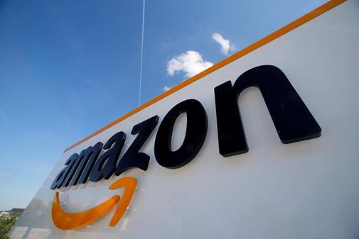 Logotipo de la multinacional tecnológica Amazon.