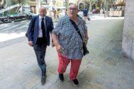 El intermediario llegando al juicio celebrado en Palma por el fichaje de Iker Casillas.
