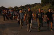 La expedición, en una marcha en Toledo, a principios de julio.
