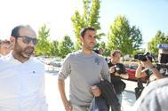 Íñigo López, a su llega a los Juzgados de Huesca, en mayo.