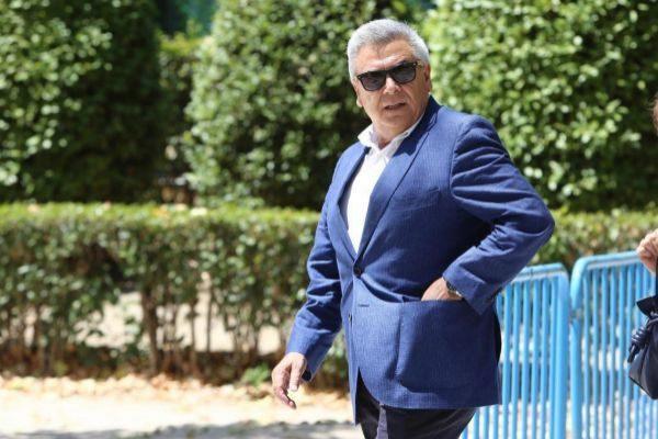 El ex jefe de Seguridad del BBVA, Julio Corrochano, tras declarar en la Audiencia Nacional.