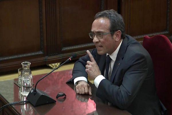 El ex conseller Josp Rull, durante el juicio del 1-O.
