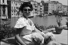 Peggy Guggenheim en Venecia, 1950.