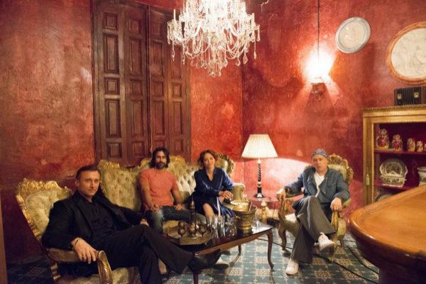 Los actores Anton Yakovlev, Hugo Silva, Leonor Watling y Luis Bermejo.