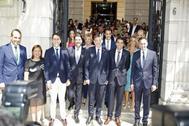Foto de familia previa a la investidura de Mazón en la Diputación de Alicante.