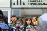 Gabriel Rufián y Marta Vilalta atienden a los medios