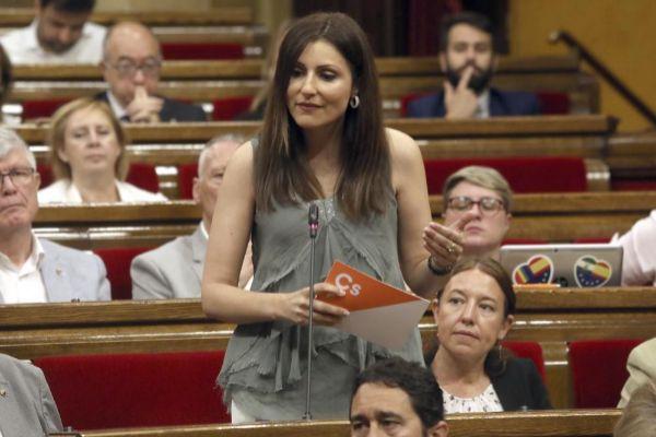 Lorena Roldán en el Parlament.