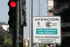 Una de las calles restringidas al tráfico en Madrid Central.