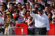 El presidente de Nicaragua, Daniel Ortega, y su mujer, Rosario Murillo, en Managua.