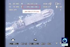 Captura de un vídeo que muestra un buque de EEUU en Ormuz.
