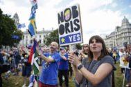 Manifestación contra el Brexit, en Londres.