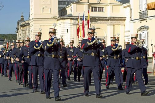 La banda de música de la Guardia Real, en una de sus actuaciones