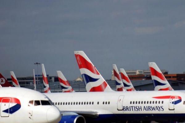 Aviones de British Airways, en el aeropuerto de Heathrow.