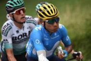Nairo Quintana, durante una etapa del Tour.